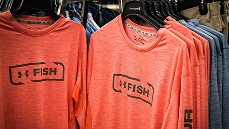 Under Armor Fish Orange T-Shirts